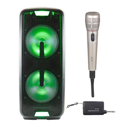 "Queenfx 112 Bluetooth, Wireless Mic, Rechargeable Speaker 2x12"" woofer (Sold In-Store Only) - Isingtec"