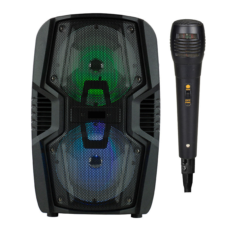 Queenfx 268SM Bluetooth, Mic, Rechargeable Speaker 6.5x2 woofer (Sold In-Store Only) - Isingtec