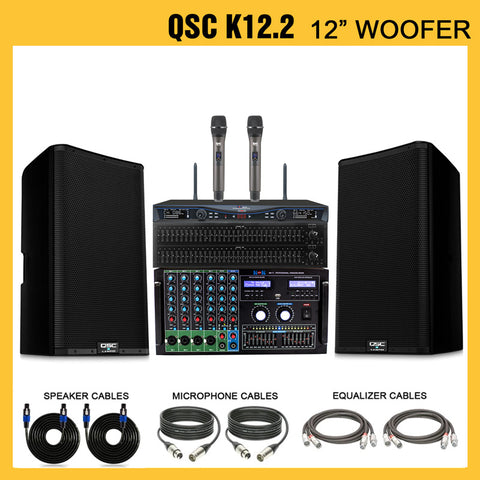 QSC K12 2-Way Active Loud Speaker (Pair)