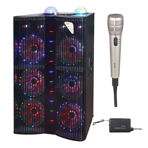 Queenfx 41212 Bluetooth, 12LED display, Rechargeable, 1 mic, 12x1 woofer speaker (Sold In-Store Only)
