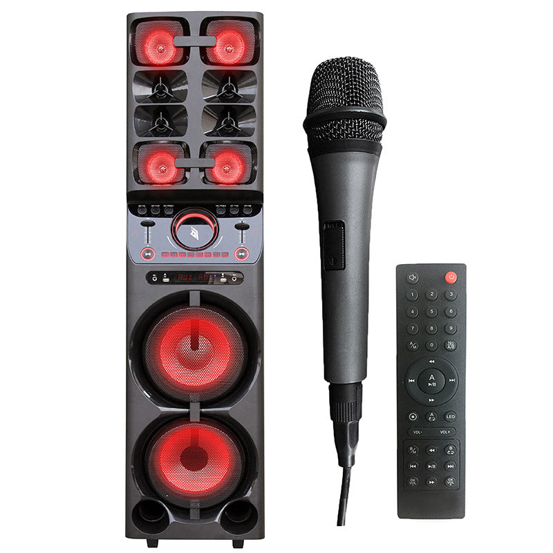 Queenfx 6010 Bluetooth, Wireless Mic, PA Speaker 10x2 woofer (Sold In-Store Only) - Isingtec