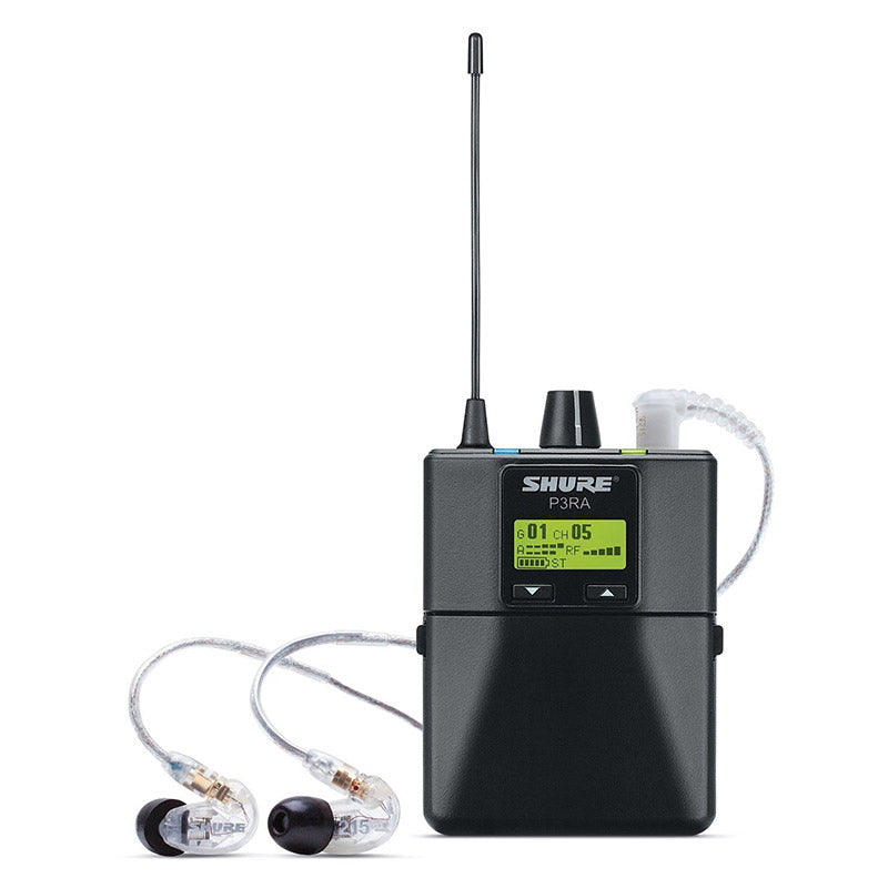 Shure PSM 300 Wireless Personal Monitoring System With SE215-CL Earphones / Microphone - Isingtec