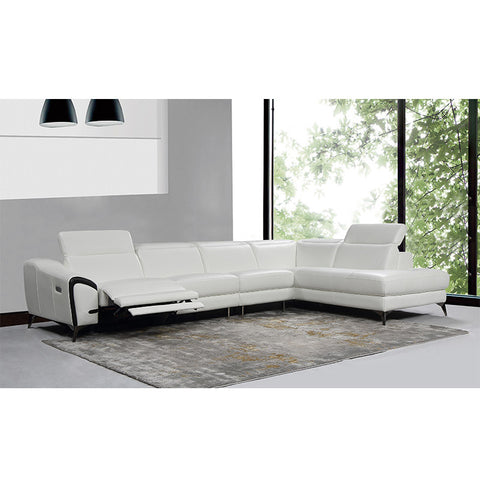 KOK USA 121576 Italian Leather Sofa Sectional