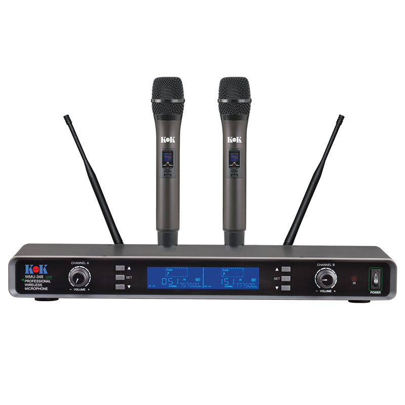 KOK Audio WMU-346 UHF Wireless Karaoke Microphone - Isingtec