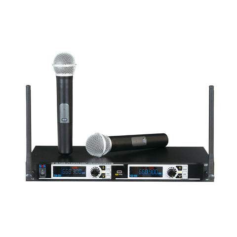 Shure BLX1288 Combo System with CVL Lavalier Karaoke Microphone and PG58 Handheld Microphone  Band H9