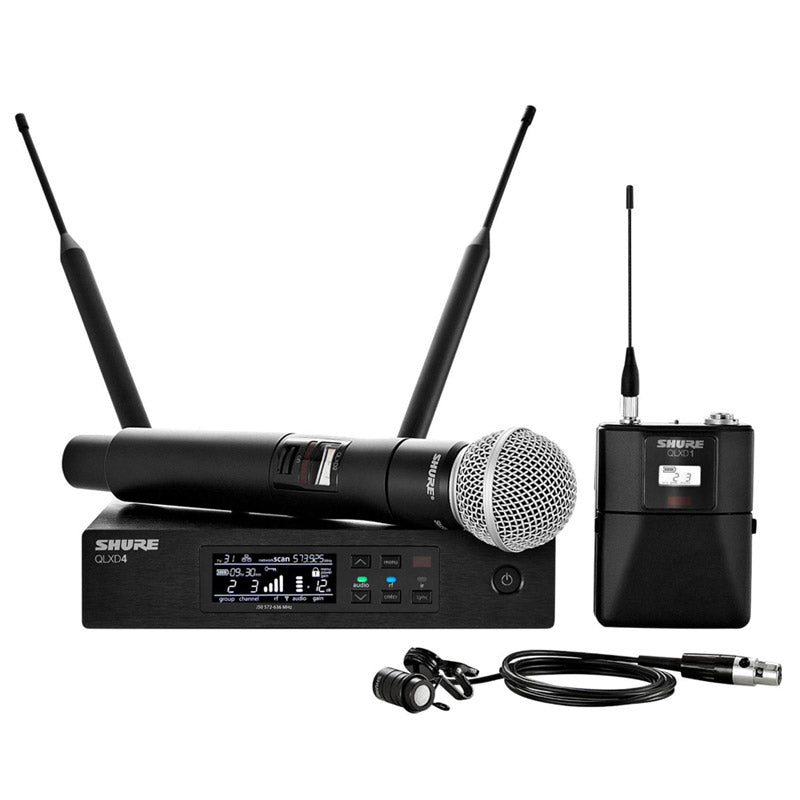 Shure Wireless Bodypack and Vocal Combo System with WL185 and SM58 Microphone Band H50 - Isingtec