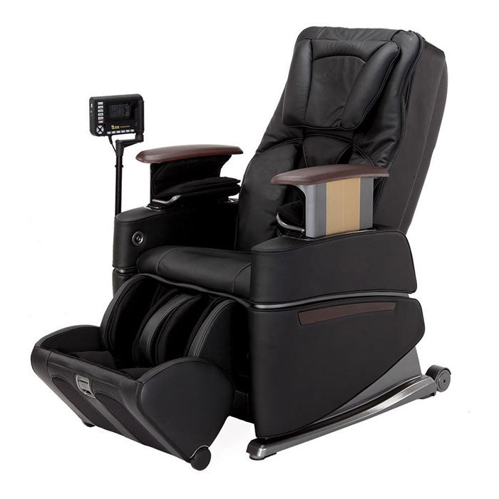 black massage chair with remote