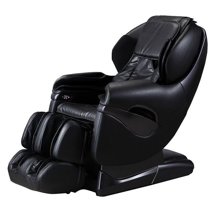 black leather massage chair