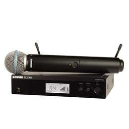 Shure BLX24R/B58 Wireless System w/ Rackmountable Receiver and Beta 58A Karaoke Microphone Capsule  Band H9 - Isingtec
