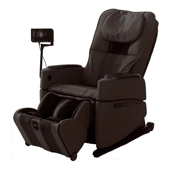 brown massage chair with remote