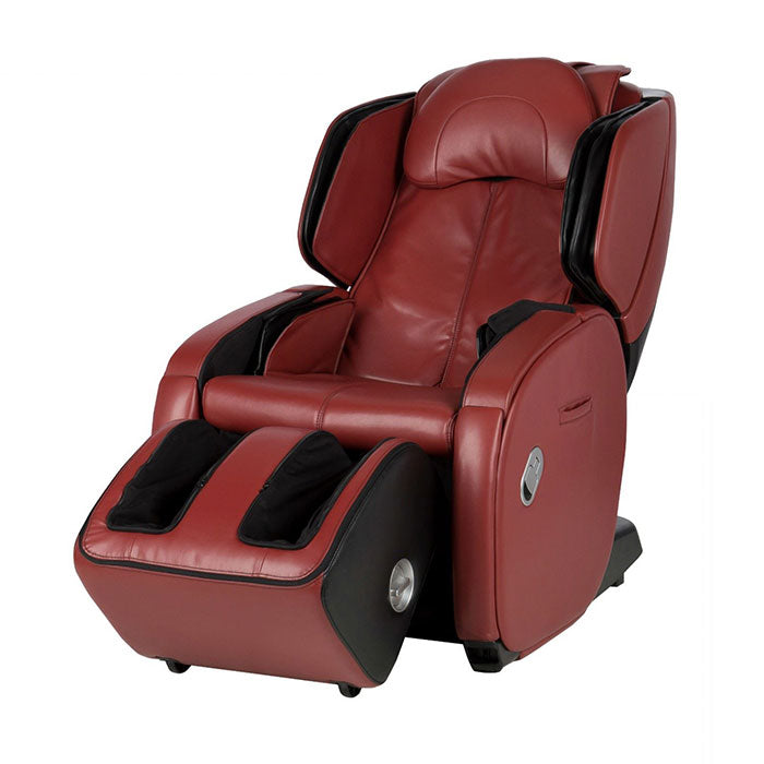red massage chair on white background