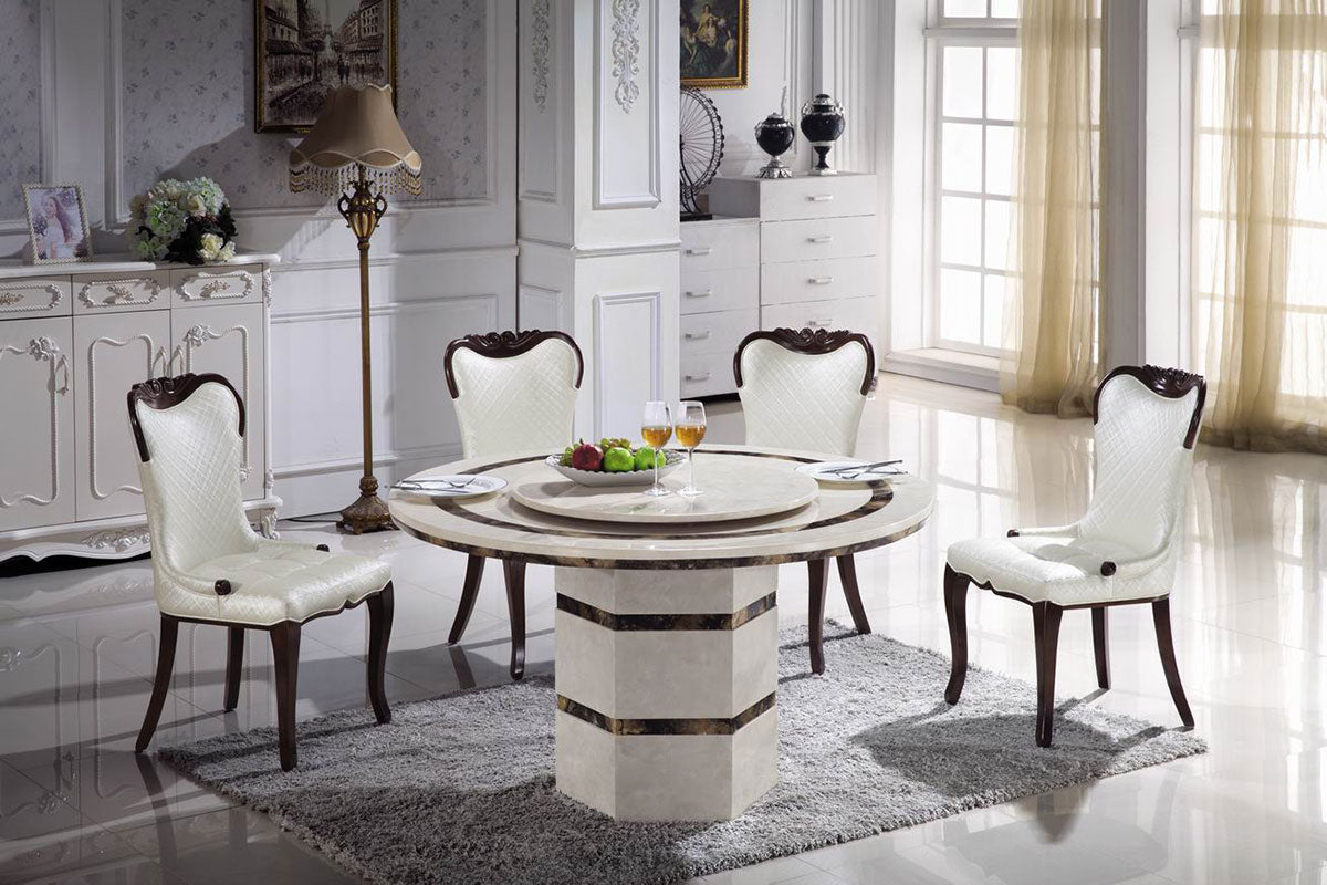 "KOKusa T-6319 44"" Marble Dining Table - Isingtec"
