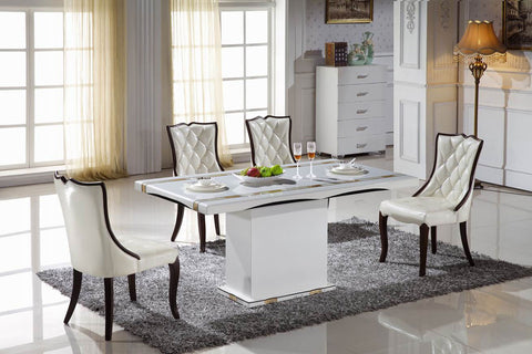"KOKusa T-400 36x63"" Marble Dining Table"