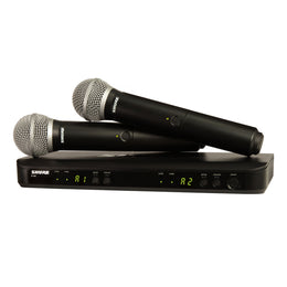 Shure BLX288/PG58 Dual-Channel Wireless Microphone System with Two PG58 Handheld Transmitters Band J10 - Isingtec