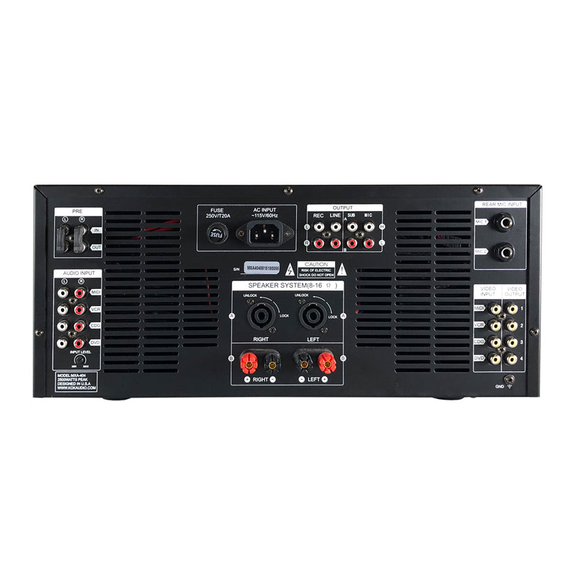 KOK Audio MXA-404 2500 Watt Karaoke Mixing Amplifier - Isingtec