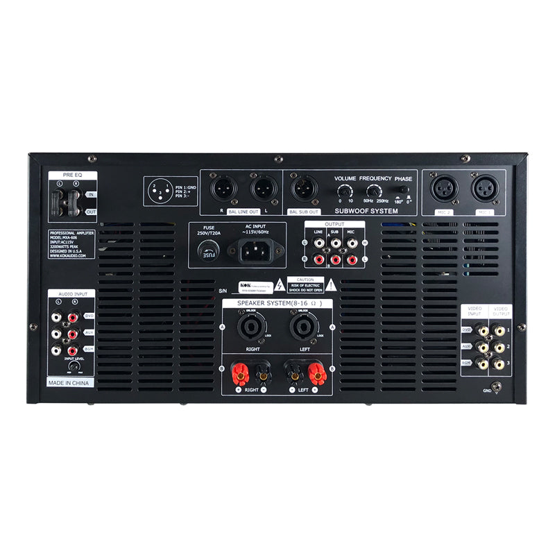 KOKaudio MXA-606 3200 Watt Karaoke Mixing Amplifier - Isingtec