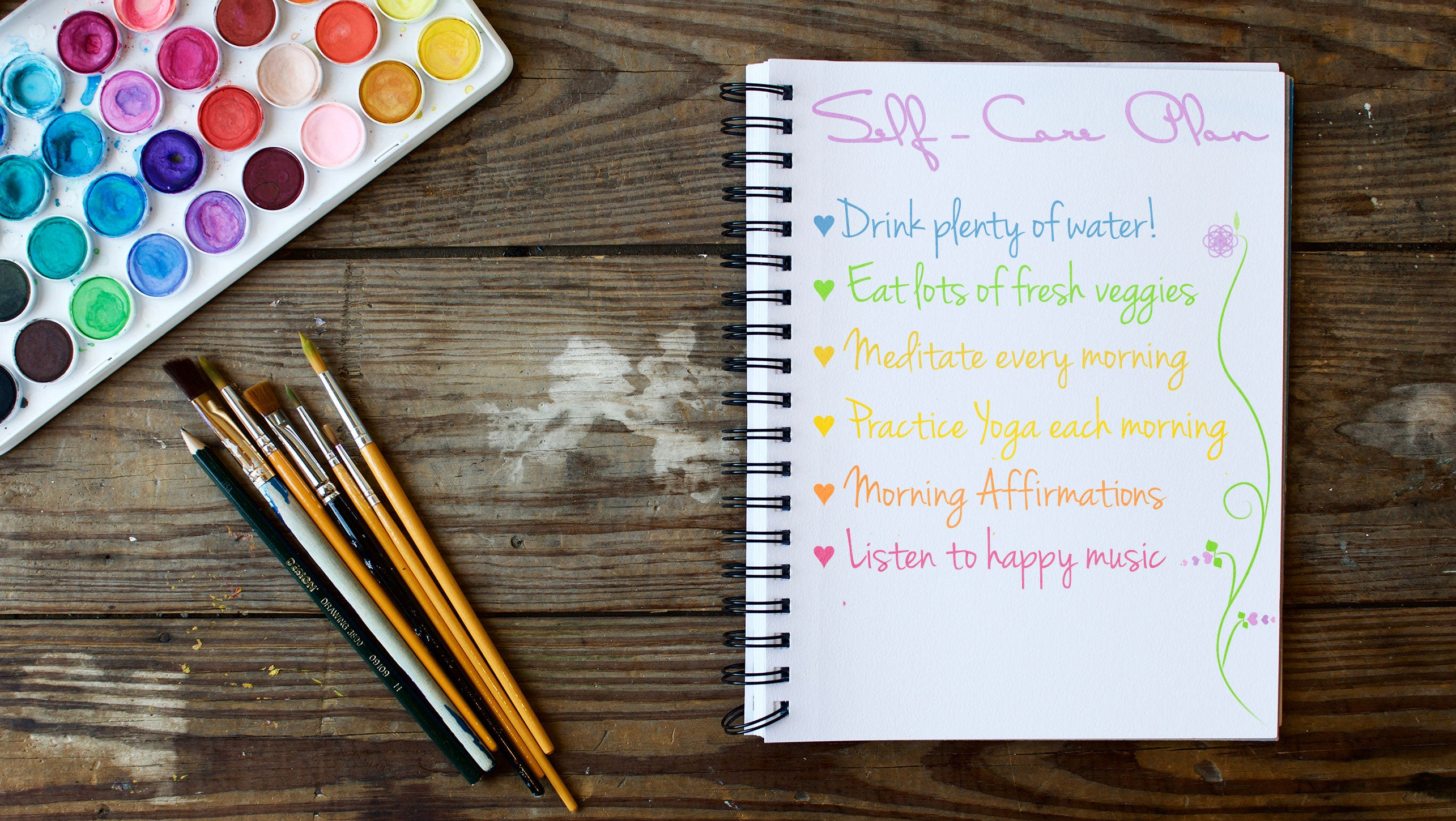create a self care plan