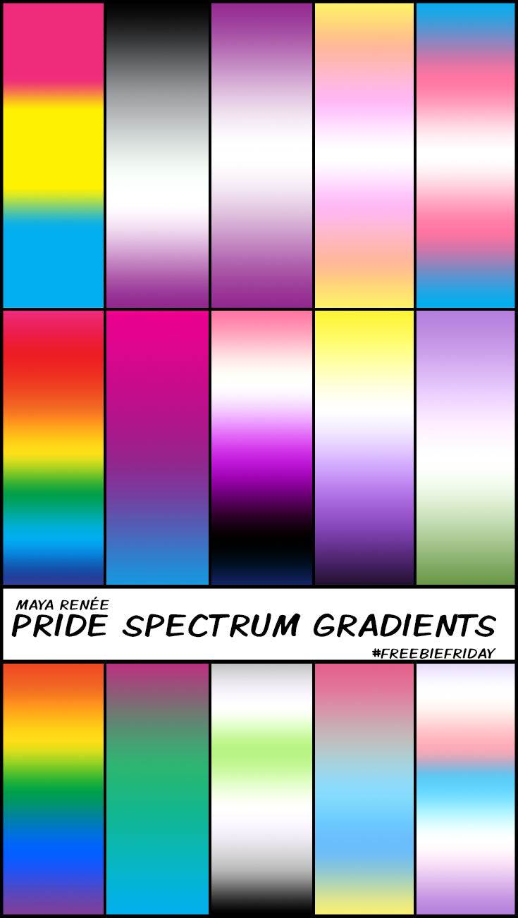 Free Pride Spectrum Gradients