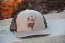 Patriotic Leather Patch Hat