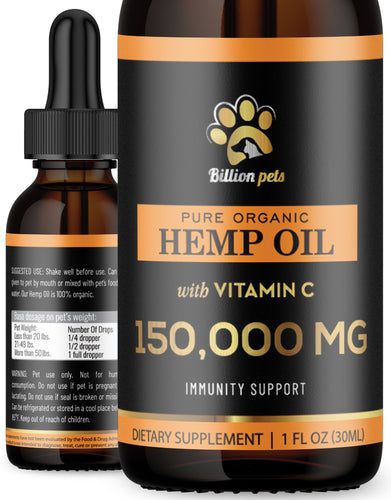 Billion Pets with Vitamin C - Hemp Oil for Dogs and Cats
