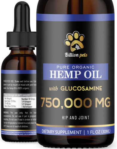 Billion Pets with Glucosamine - Hemp Oil for Dogs and Cats