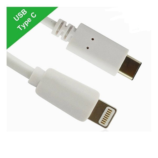 USB-C Type-C to Apple Lightning cable male to male for iphone 5 6 7 plus 1m White