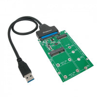 USB 3.0 to mSATA + M.2 (NGFF) SSD 2 in 1 Combo Adapter