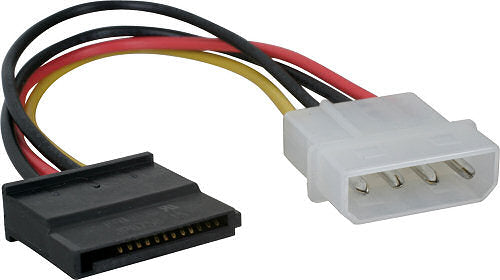 1 Molex (M) Power to 1 SATA (F) power adapter - Covert 4pin molex on Power supply to SATA power cable