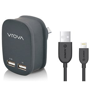VROVA 2 Port USB Wall Charger 5V/3.4A  Apple Mac