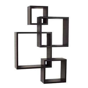 Danya B Espresso Intersecting Cube Shelves - 50% OFF