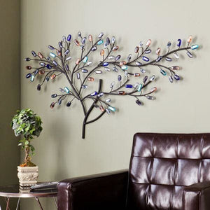 Harper Blvd Willow Multicolor Metal/ Glass Tree Wall Sculpture - 50% OFF