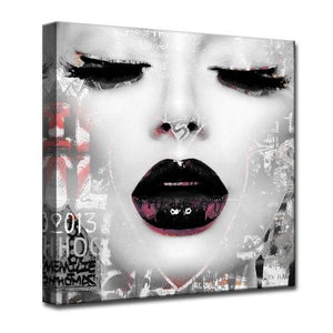 Silver Orchid Welles Urban Fashion Canvas Art - Black/Grey - 50% OFF