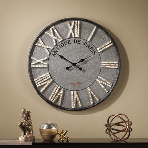 The Gray Barn Jartop Round Rustic Farmhouse Wall Clock - 50% OFF