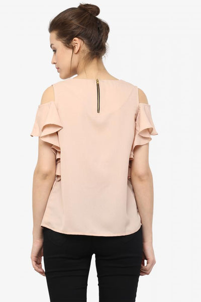 Making Waves Ruffle Cut Out Top