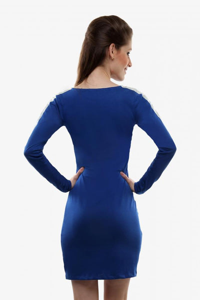 I'm Bad Power Shoulder Bodycon Dress