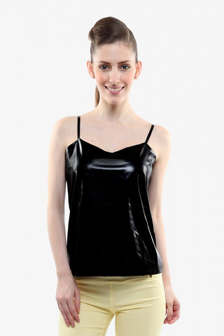 Hot Couture Faux Leather Top