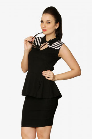 Between The Lines Peplum Top