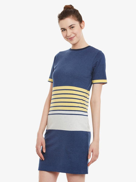 Get Away Striped T-Shirt Dress