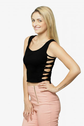 Bombshell Cut Out Crop Top