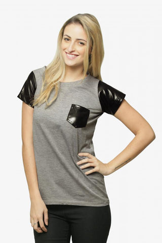 Bask In The Leather Tee