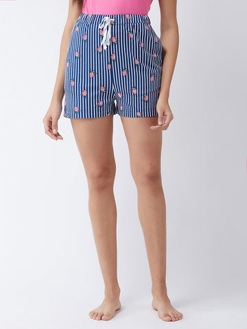 Just Dance Strawberry Printed Shorts
