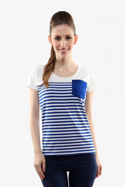 Casual-tees Stripe Top