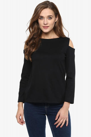 After Party Cold Shoulder Full-Sleeve Top