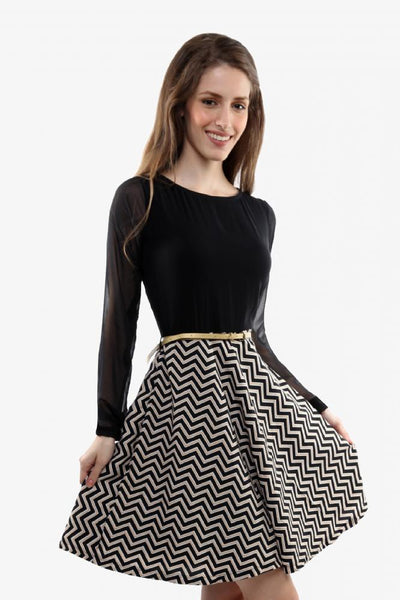 Such Illusions Skater Dress