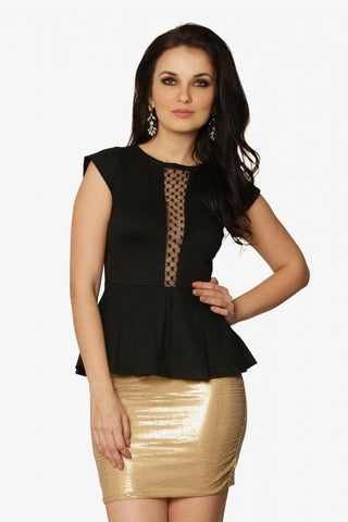 Lace Be Naughty Peplum Top
