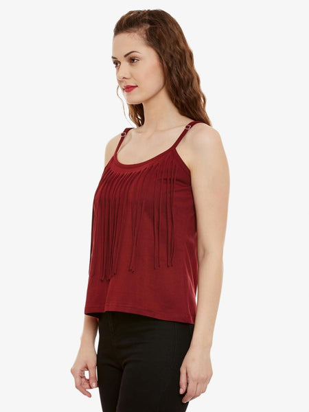 Never Say Never Fringe Top