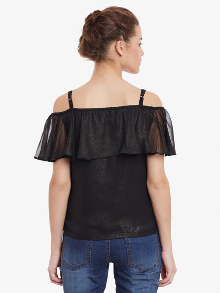 Hooked On You Ruffle Bardot Top