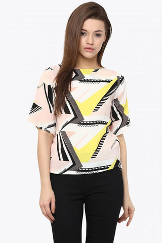 At Ease Printed Top