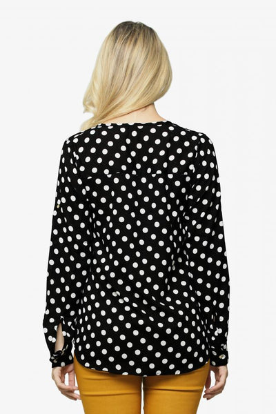Polka Fever Shirt - White Polka on Black