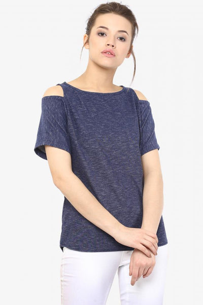 Breaking Free Shoulder Cut Out Top